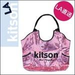 kitson LAキットソン スパンコール トートバッグ ピンク/ブラック