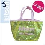 kitson LA キットソンsequin スパンコールミニトートバッグ/ゴールドピンク
