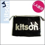 kitson LA キットソンsequin スパークリング コスメバッグ/ブラック